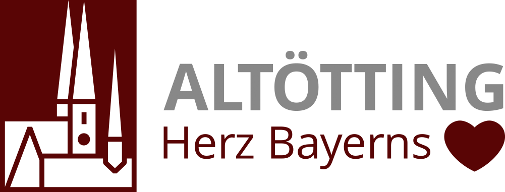 Tourismus Logo Altötting -Herz Bayerns - Kirchen-Piktogramm