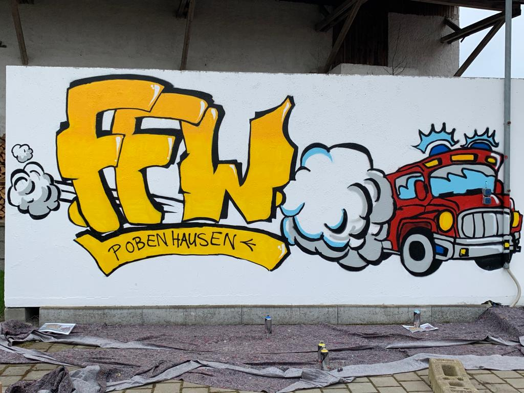 Graffiti FFW Pobenhausen